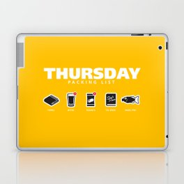 THURSDAY - The Hitchhiker's Guide to the Galaxy Packing List Laptop & iPad Skin