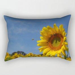 Sunny Summer Sunflower Rectangular Pillow