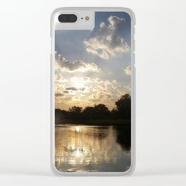 Water Fountain Sunset Clear iPhone Case