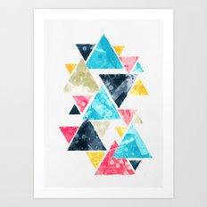 Triscape Art Print