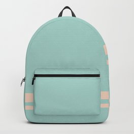 Care Free \\ Retro Teal Stripe Backpack