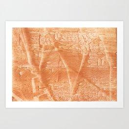 Peach juice Art Print