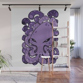 Octopus Squid Kraken Cthulhu Sea Creature - Ultra Violet Wall Mural