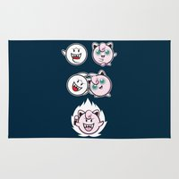 dragonball Area & Throw Rugs featuring Jigglyboo Fusion by Moysche Designs