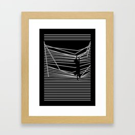 Cats and Curtains Framed Art Print