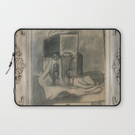Shades of grey novel modern paintigs by Christian T. Laptop Sleeve
