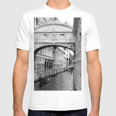 The Bridge of Sighs in Venice Italy Travel White MEDIUM Mens Fitted Tee