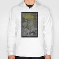 travel poster Hoodies featuring Dagobah Travel Poster by Tawd86