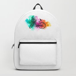 Colorful Bicycle Art Gift Bike Lover Gifts Backpack