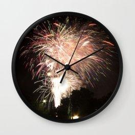 Firework Finale Wall Clock