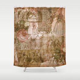 Vintage & Shabby Chic - Victorian ladies pattern Shower Curtain