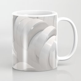 Pattern of white cylinders Coffee Mug