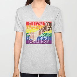 Fully Automated Luxury Queer Technicolor Space Communism Unisex V-Neck