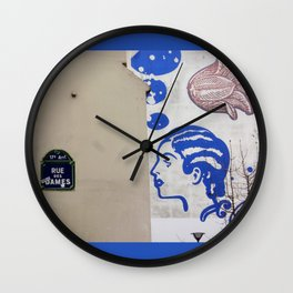 Rue des Dames, Paris Wall Clock