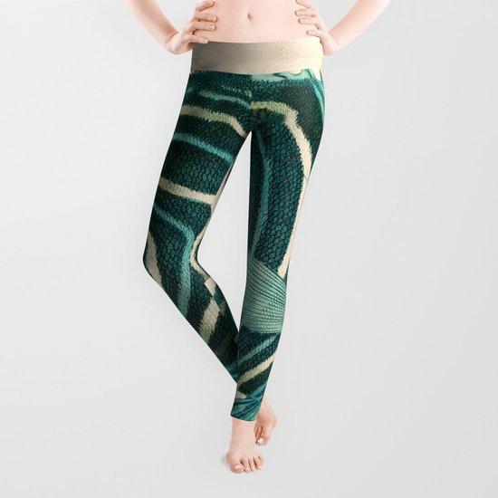 Green Fish Leggings