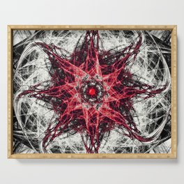 Dark Magic Fractal RED Serving Tray