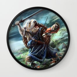 Bruno the Brave Wall Clock
