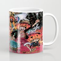 one piece Mugs featuring Halloween in One Piece by Borsalino