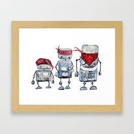 Robot gang Framed Art Print