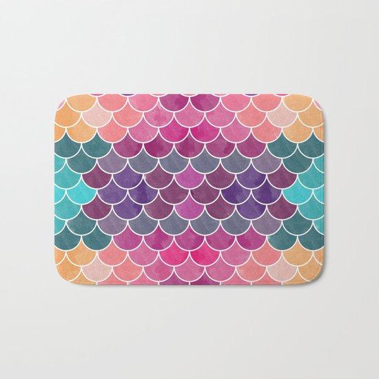 Watercolor Lovely Pattern VV Bath Mat