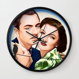 Nick and Nora Full Moon and Love Birds Wall Clock