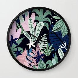 Into the jungle - midnight Wall Clock