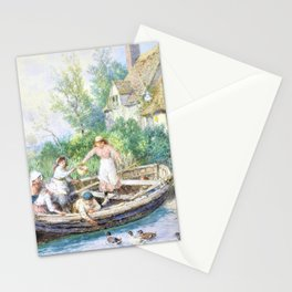 12,000pixel-500dpi - Myles Birket Foster - The ferry - Digital Remastered Edition Stationery Cards
