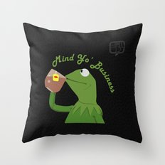 Mind Yo Business Throw Pillow