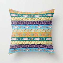 Ocean Pattern Throw Pillow