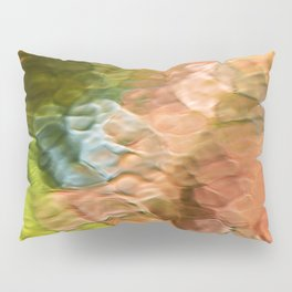 Salmon Mosaic Abstract Art Pillow Sham