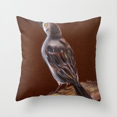 Carib Grackle Throw Pillow