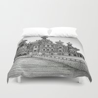 russia Duvet Covers featuring St. Petersburg, Russia by Olivia Nicholls-Bates