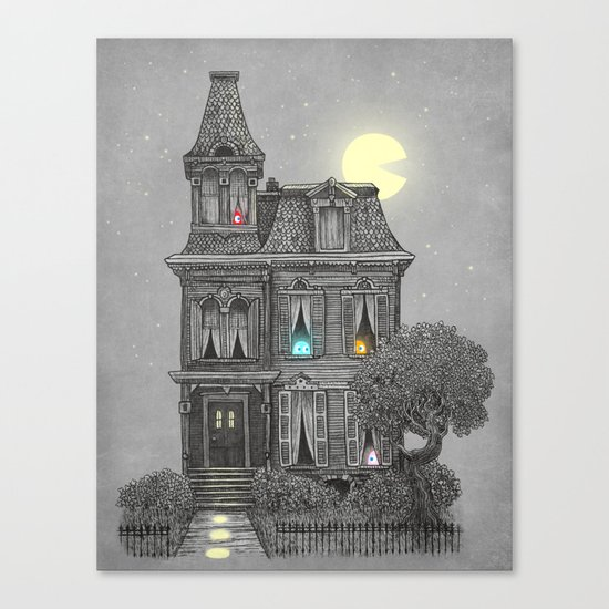 Haunted by the 80's Canvas Print