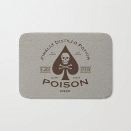 Black Spade Poison Bath Mat