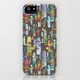 Watercolor Cacti - Browns iPhone Case