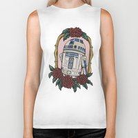 r2d2 Biker Tanks featuring R2D2 by Bare Wolfe