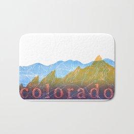 Colorado Mountain Ranges_Boulder Flat Irons + Continental Divide Bath Mat