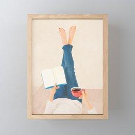 Morning Read Framed Mini Art Print