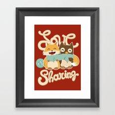 Love is Sharing Framed Art Print