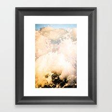 White Wash Framed Art Print