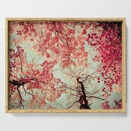 Autumn Inkblot Serving Tray