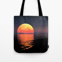 moonrise Tote Bags featuring Moonrise by Tobias Bowman