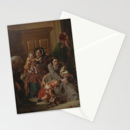 Abraham Solomon - Waiting for the Verdict (1859) Stationery Cards