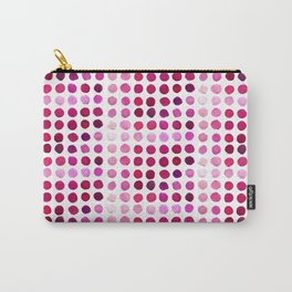 Pink Pink Polka Pink Carry-All Pouch