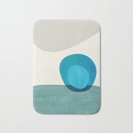 Stacking Pebbles Blue Bath Mat