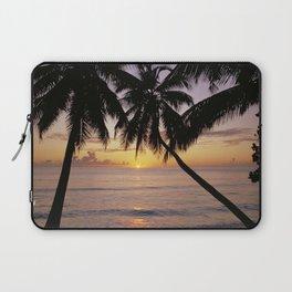 Tropical sunset, Mahe island, the Seychelles Laptop Sleeve