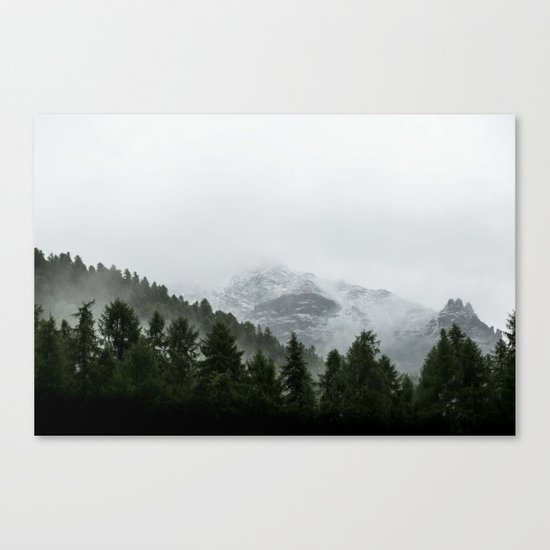 Faded Forest Landscape Canvas Print