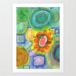 A closer Look at the Flower  Universe Art Print