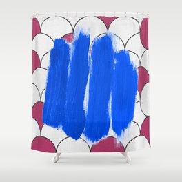 Blu Imperfection Shower Curtain