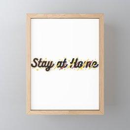stay at home Framed Mini Art Print